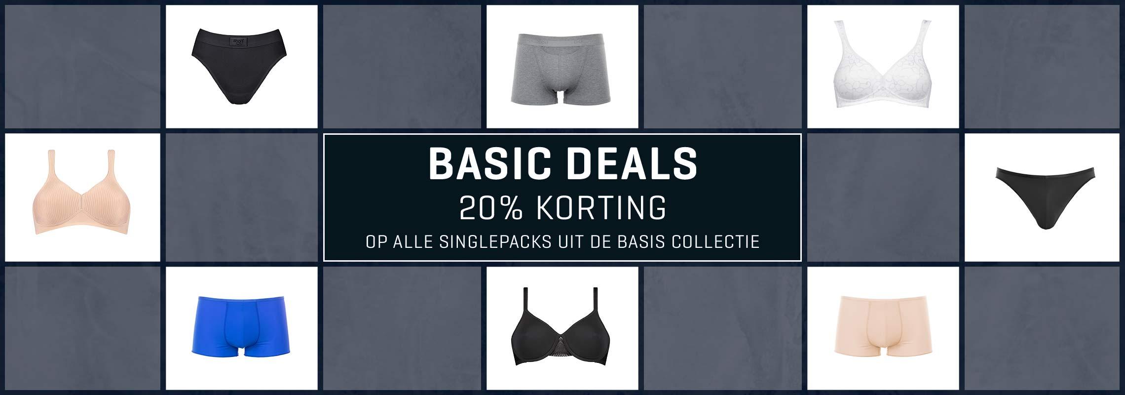 BASIC DEALS - 20% korting op singlepacks