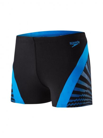 Speedo END chevron Splice Aquashort Blauw/Zwart