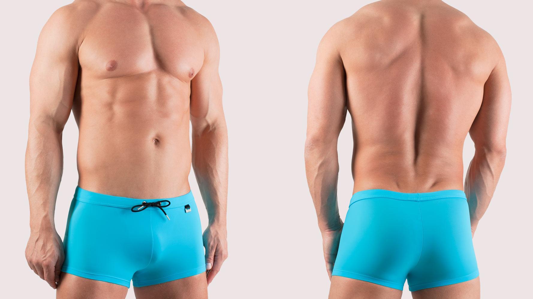 Hom Marine Chic Zwemshort Lichtblauw Surf Blue