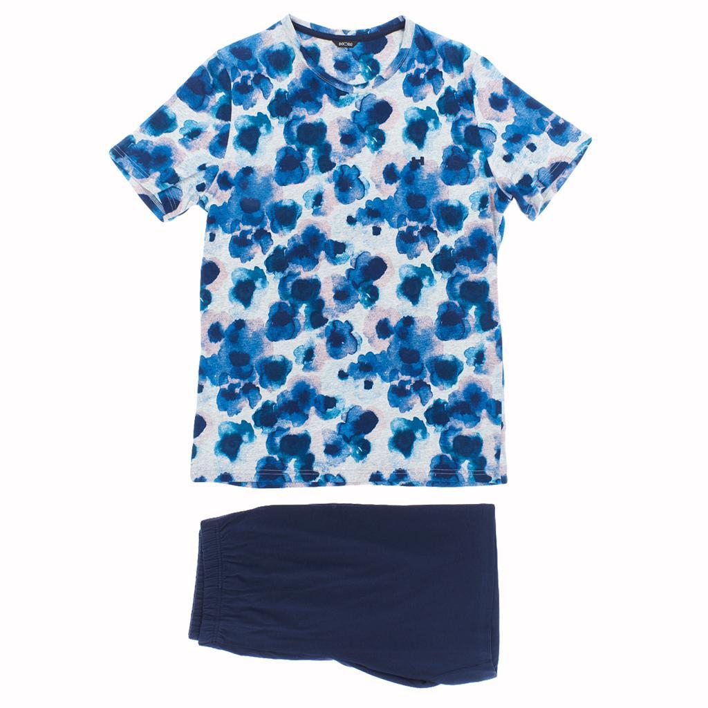 HOM Short Sleepwear - Aqua Flowers