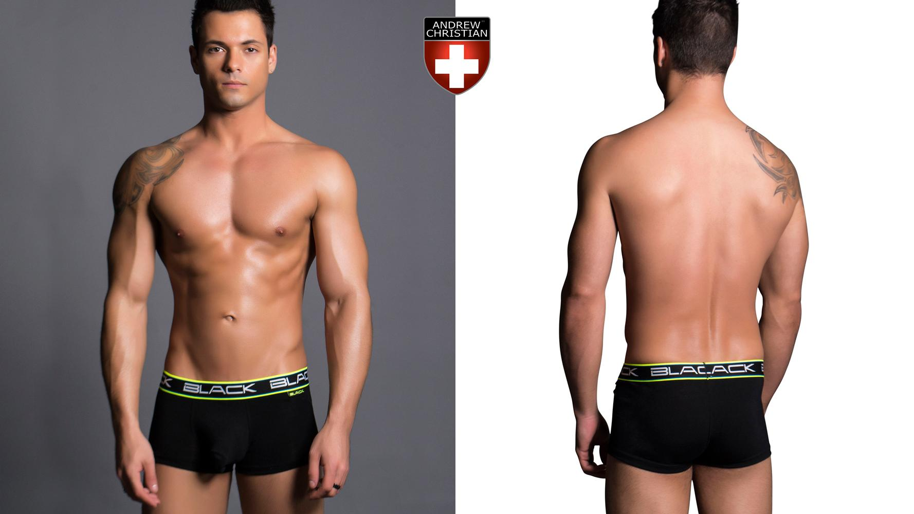 Andrew Christian Black Collection Air Boxer