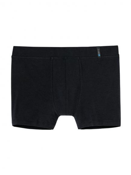 Schiesser Long Life Soft Short Blauw/Zwart