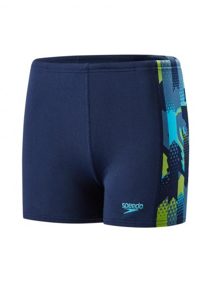 Speedo END Alphablend Aquashort Blauw