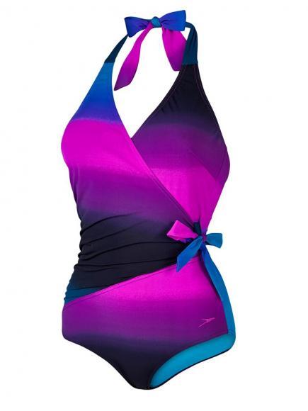 Speedo Sculpture Simplyglow Swimsuit Blauw-Zwart