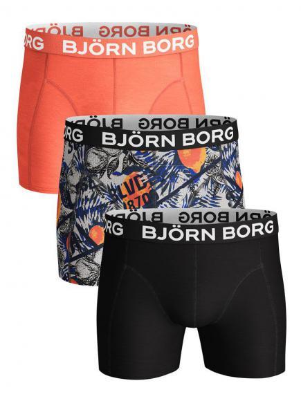 Bj�rn Borg Core Shorts 3-pack grijs melange