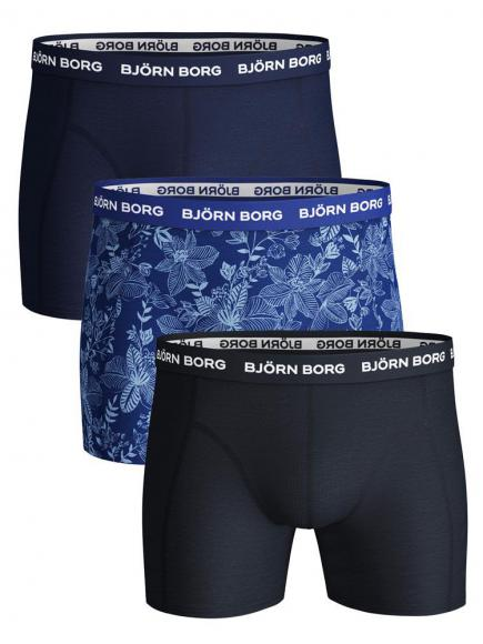 Bj�rn Borg Ess. Cotton Shorts 3p Blauw