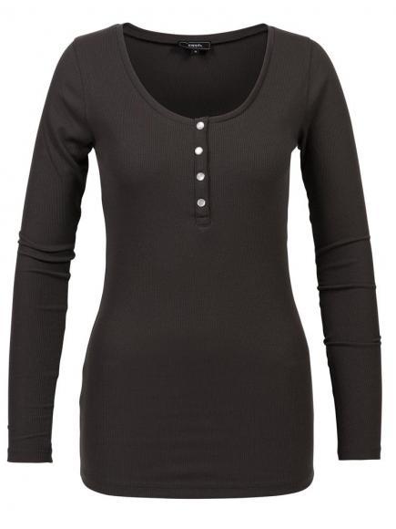 Sapph Comfy Long Sleeve Shirt Grijs