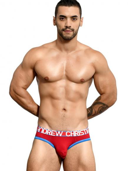 Andrew Christian Almost Naked Cotton Briefs Rood