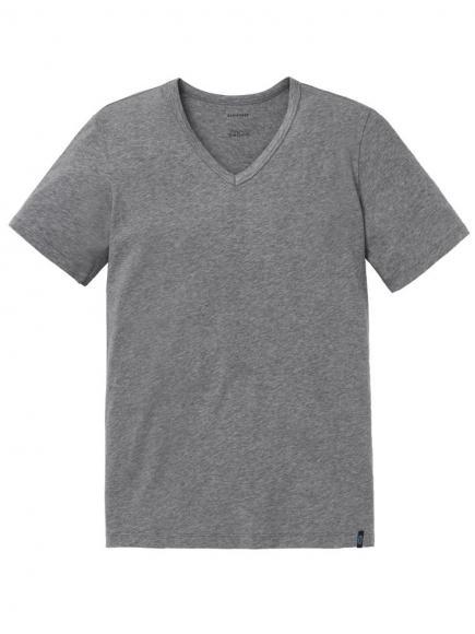Schiesser 95/5 Shirt 1/2 v-neck Grijs