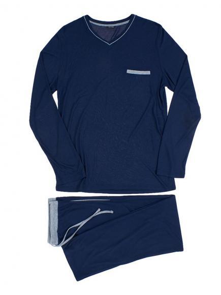 HOM Long Sleepwear - Relax Blauw