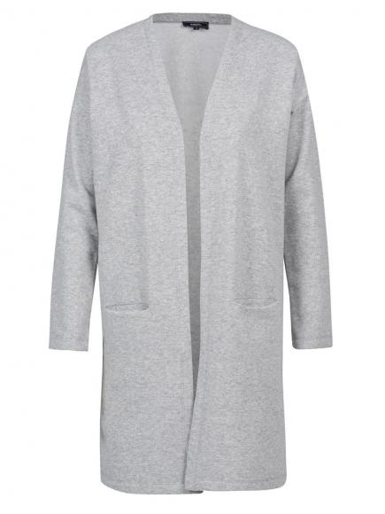 Sapph Carefree Long Cardigan Grijs
