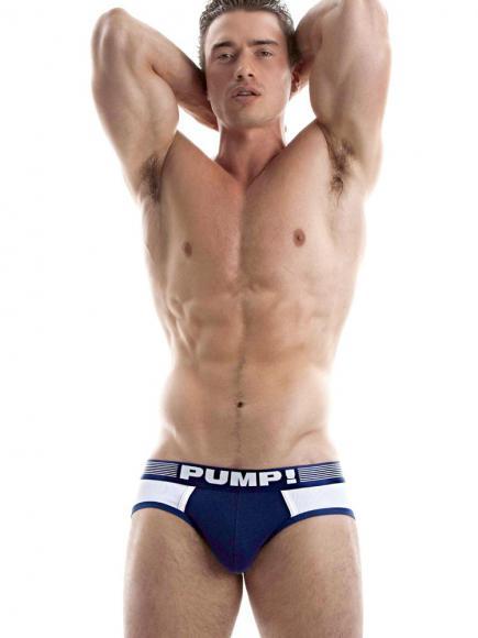 PUMP! Brief - Navy Ribbed