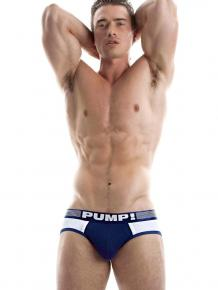 PUMP! Brief - Navy Ribbed