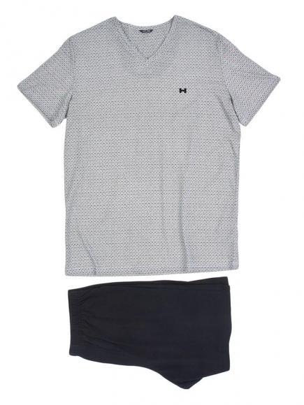 HOM Short Sleepwear - Kuda Wit/Zwart