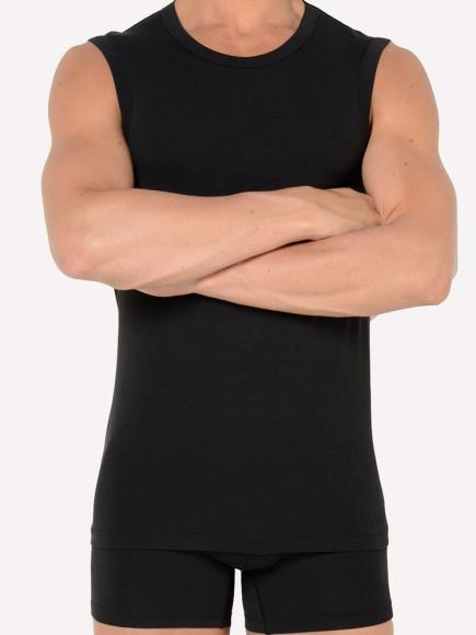 HOM Smart Cotton Tanktop 01 Zwart