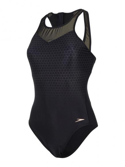 Speedo E10 Mesh Panel 1p Zwart