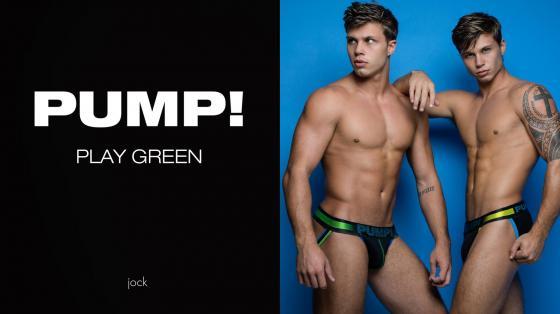 PUMP! PLAY Green Jockstrap