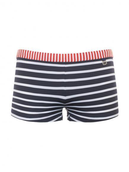 HOM Swim Shorts - Moussaillon Blauw/Wit