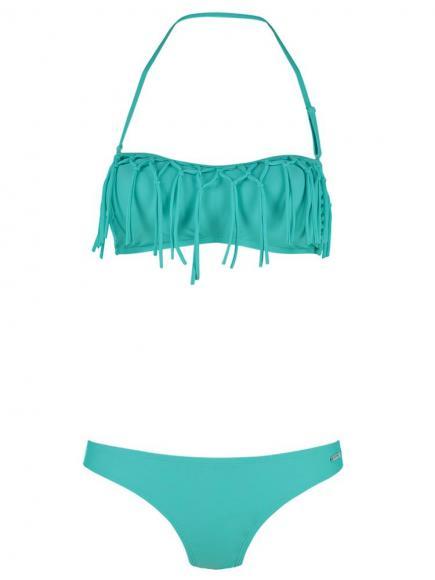 Shiwi Bikini Bandeau Fringe aqua