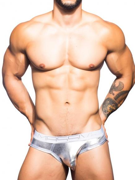Andrew Christian MASSIVE Brilliant Brief silver