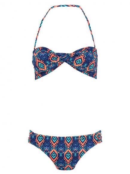 Shiwi Bikini Bandeau Romance Blauw/Groen