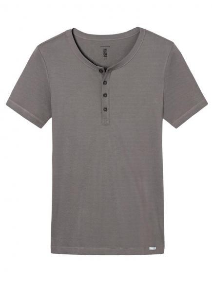Schiesser Long Life Cool Shirt 1/2 Grijs/Bruin