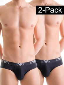 Emporio Armani Stretch Cotton Hip Brief 2-pack