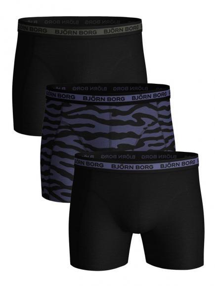 Bj�rn Borg Ess. Cotton Shorts - 3 pack crown blauw