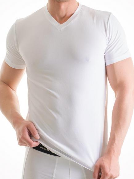 Punto Blanco Basix T-Shirt V-hals Wit