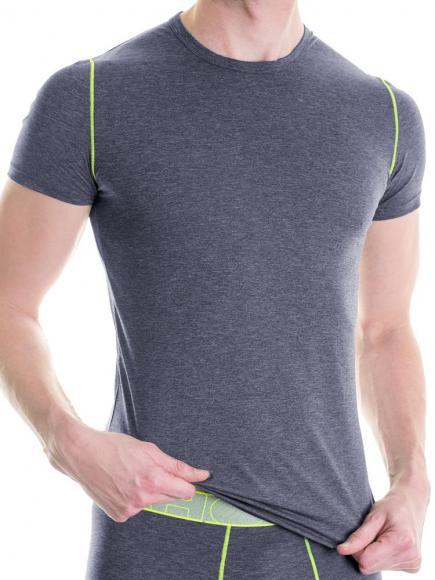 HOM Sport Waves T-Shirt Grijs