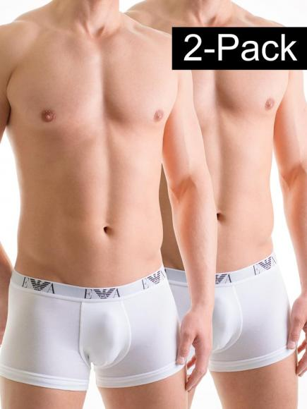 Emporio Armani Stretch Cotton Trunk 2-pack Wit