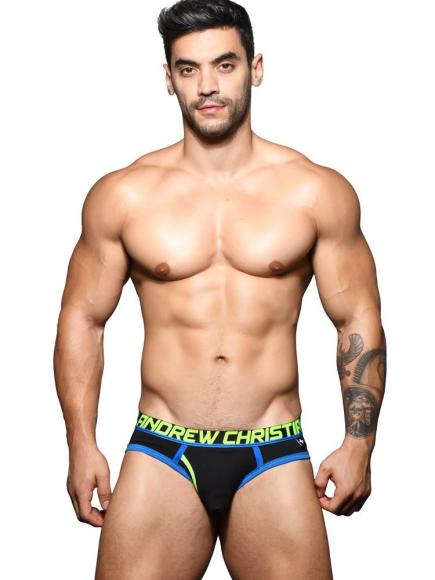 Andrew Christian Fly Tagless - Brief Zwart