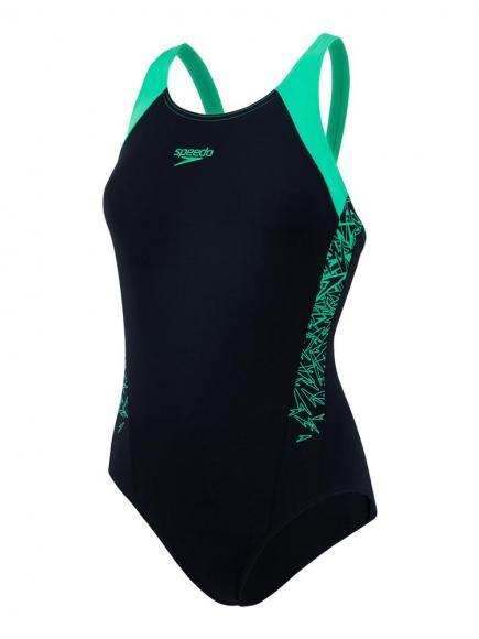 Speedo END Boom Splice Muscleback Groen/Zwart