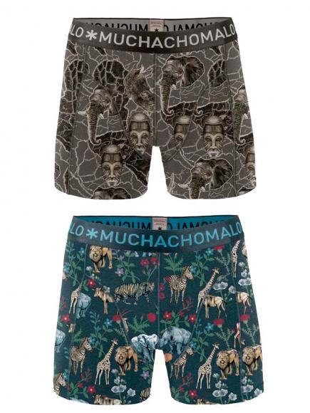 MuchachoMalo Boys 2-pack short print afrix print