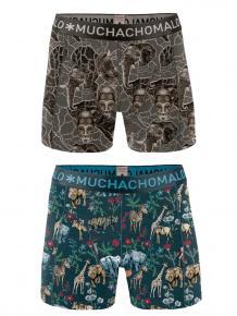 MuchachoMalo Boys 2-pack short print afrix