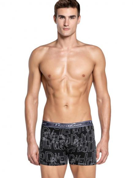 Punto Blanco Boxer Briefs - World Cities LA Zwart
