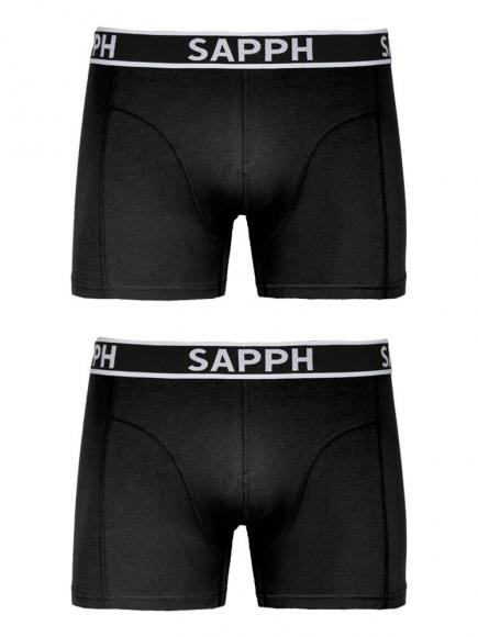 Sapph 2-pack Shorts Cotton Zwart