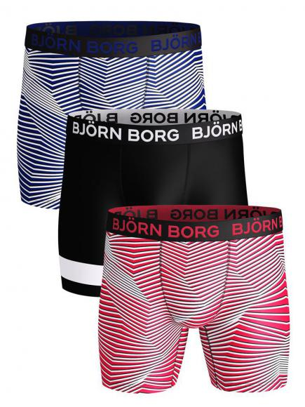 Bj�rn Borg Performance Short 3-pack Rood/Paars