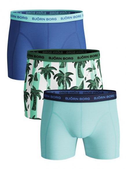 Björn Borg Ess. Cotton Shorts - 3 pack blauw tint