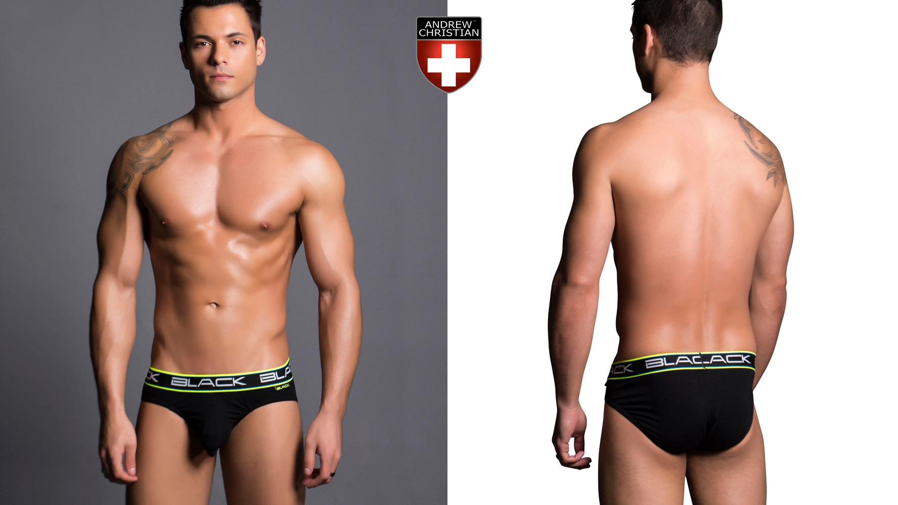 Andrew Christian Black Collection Air Brief