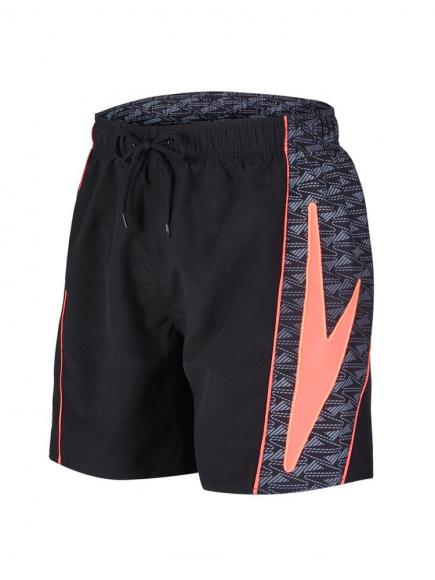 Speedo Sports Identity Short 16 Rood-Zwart