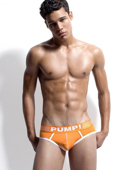 PUMP! Brief - Creamsicle multi-color