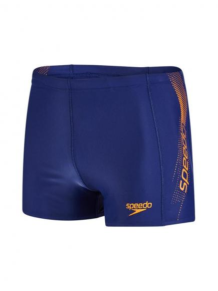 Speedo E10 Sports Logo Aquashort Blauw/Oranje
