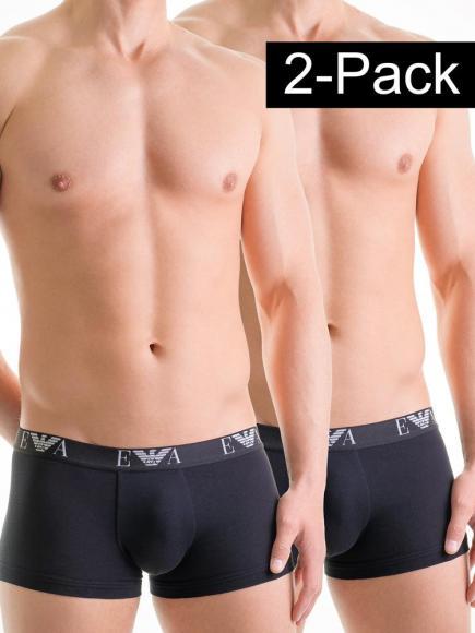 Emporio Armani Stretch Cotton Trunk 2-pack Zwart