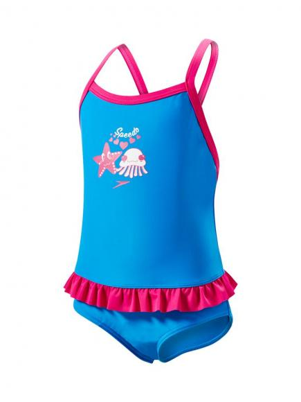 Speedo E10 Frill Suit IF Blauw