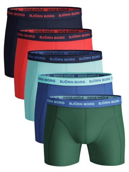 Björn Borg Ess. Cotton Shorts - 5 pack frosty spruce