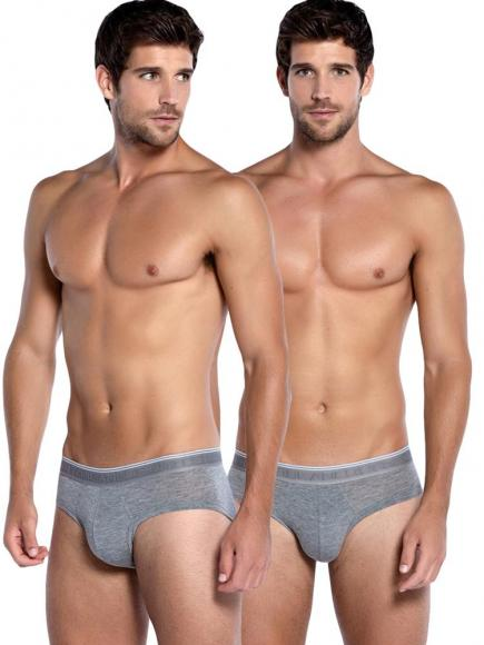 Punto Blanco 2p Mini Briefs - Bamboo Grijs