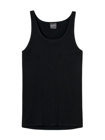 Schiesser Original Feinripp - Hemd Zwart