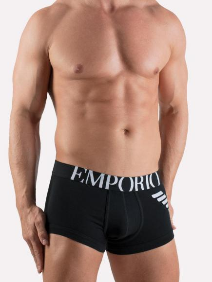 Emporio Armani Eagle Stretch Trunk Zwart