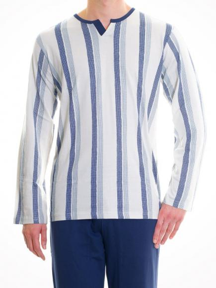 Christian Cane Pyjama Galibier rood/grijs